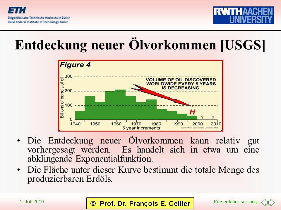 Entdeckung neuer Ölvorkommen [USGS]